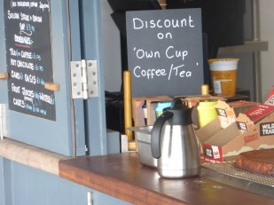 Own cup discount at Norbar, north of Barmouth