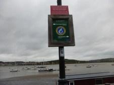 Wales Coast Path sign on Conwy Quay
