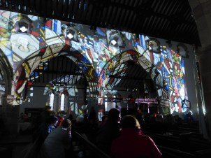 Light show in St. Mary's Church