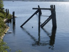 Remains of old docks