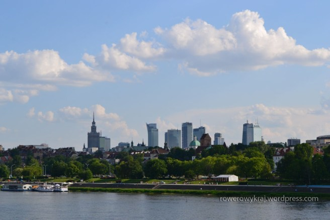 Warszawa Śródmieście. Widok z mostu Gdańskiego