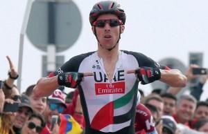 Rui Costa wygrywa górski etap Abu Dhabi Tour