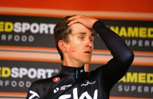 Michał Kwiatkowski na podium Mediolan-San Remo 2017
