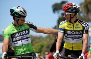 Peter Sagan i Rafał Majka w koszulkach liderów Tour of California