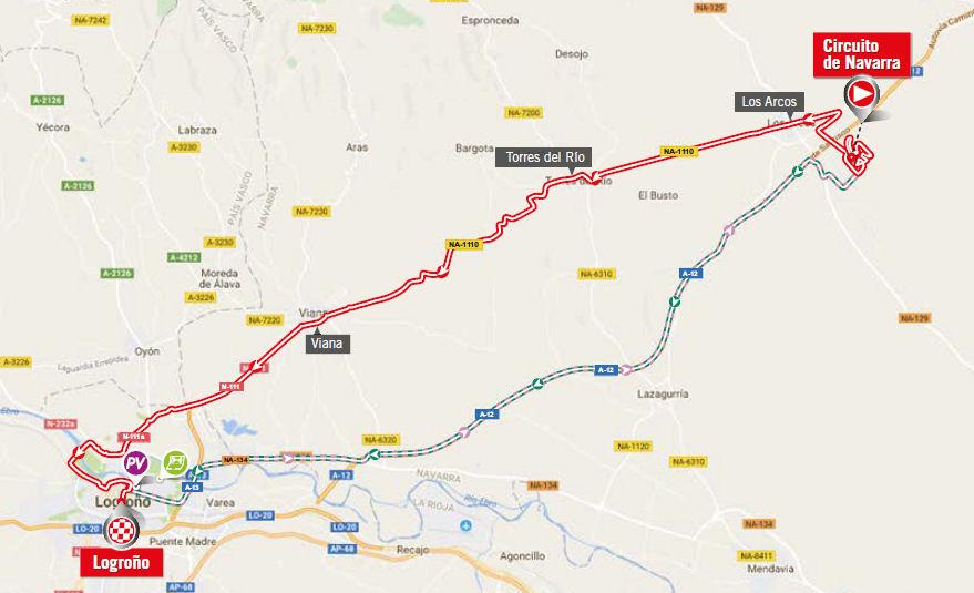 mapka 16. etapu Vuelta a Espana 2017