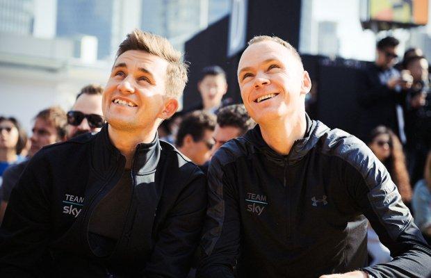 Michał Kwiatkowski i Chris Froome