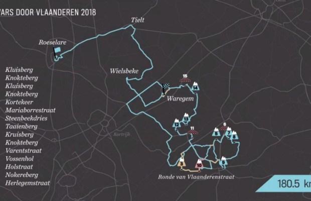 trasa Dwars door Vlaanderen – A travers la Flandre 2018