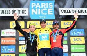 Końcowe podium Paryż-Nicea 2018