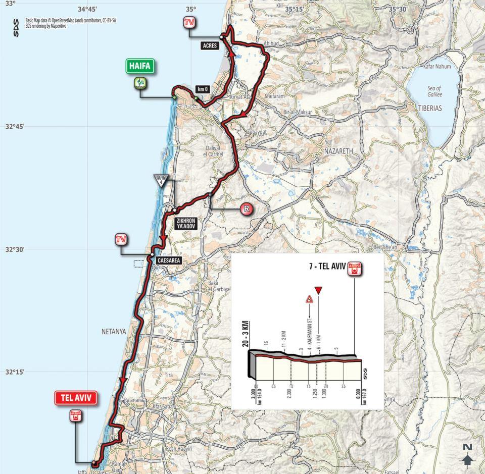 mapa 2. etapu Giro d'Italia 2018
