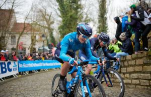 Małgorzata Jasińska na trasie Ronde van Vlaanderen