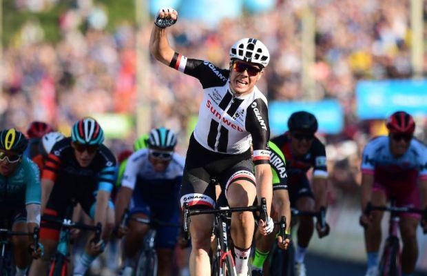 Max Walscheid na kresce 3. etapu Tour of Yorkshire