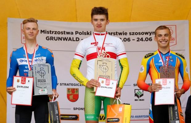 Damian Papierski na podium mistrzostw Polski