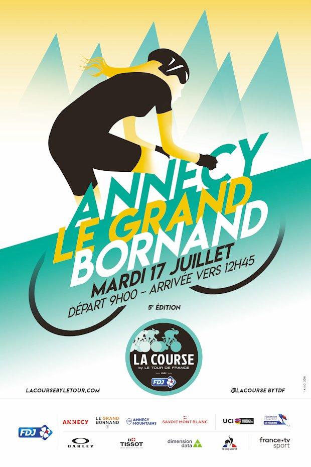plakat La Course by Le Tour de France 2018