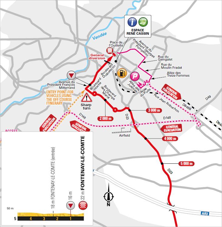 trasa i przekrój końcówki 1. etapu Tour de France 2018
