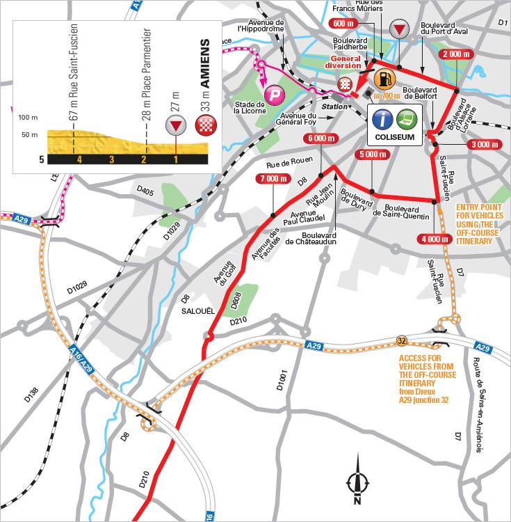 trasa i przekrój końcówki 8. etapu Tour de France 2018