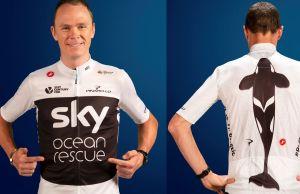 "koszulka Team Sky promująca kampanię ""Sky Ocean Rescue"""