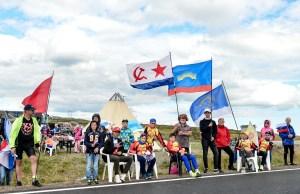 rosyjscy kibice przy trasie Arctic Race