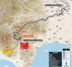 trasa kolarskiego wyścigu mężczyzn na igrzyskach w Tokio 2020