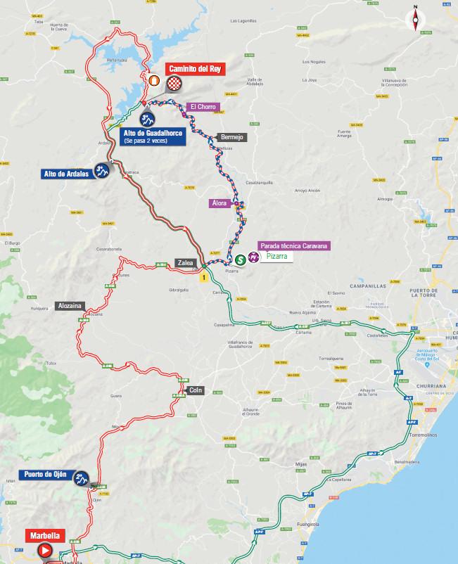 mapka 2. etapu Vuelta a Espana 2018