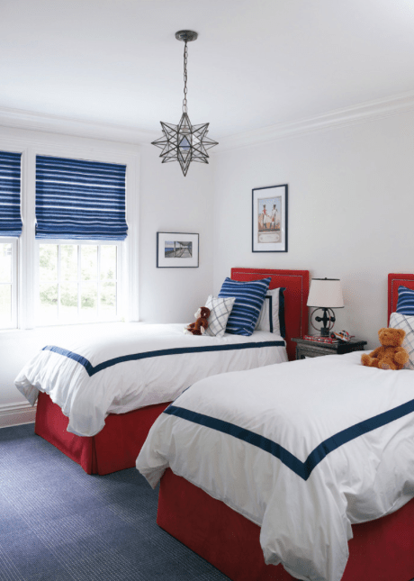 Red, White, And Blue Bedroom