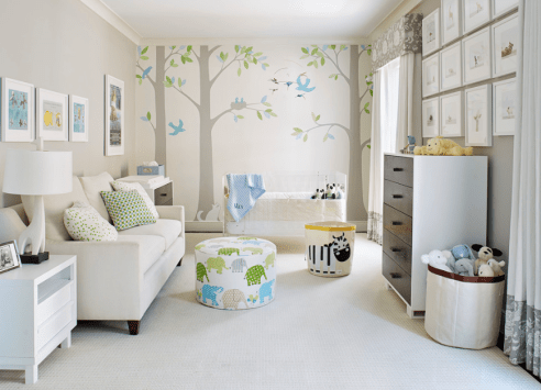 Light And Airy With Tree Mural