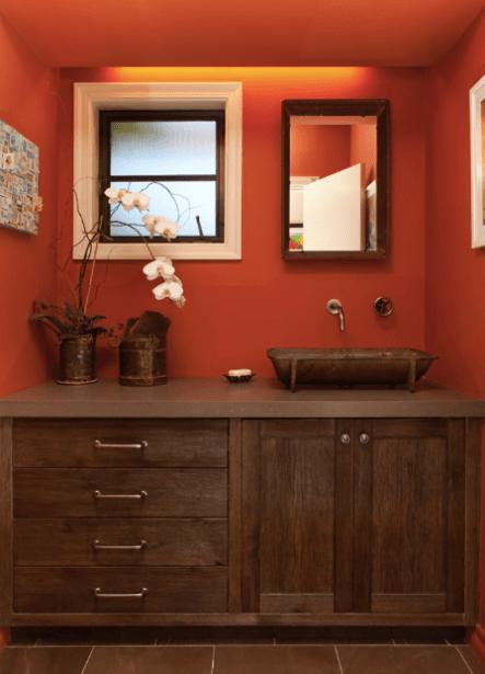 Spicy Red Bathroom Walls