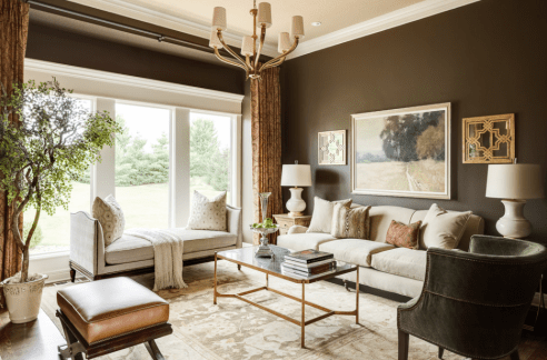 Get the look at home with Benjamin Moore Falcon Brown 1238