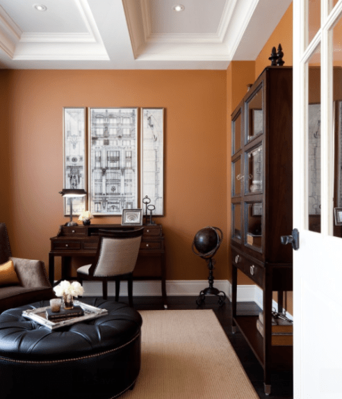 Get the look at home with Benjamin Moore Pennies From Heaven 063