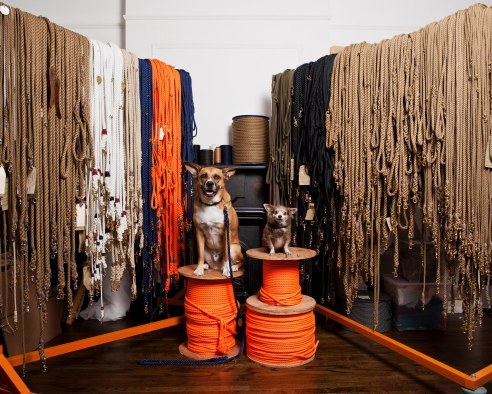 Hand made leashes, collars and accessories from Found My Animal