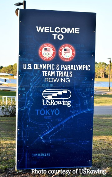 "Image of sign at the venue ""Welcme to US Olympic and Paralympic Team Trials"