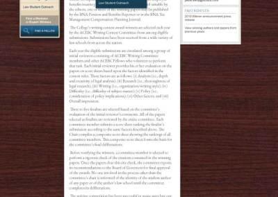 ACEBC Site, Full Interior Page w/wood
