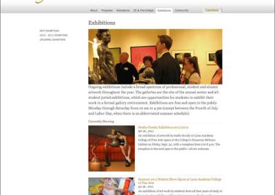 Exhibitions Landing Page