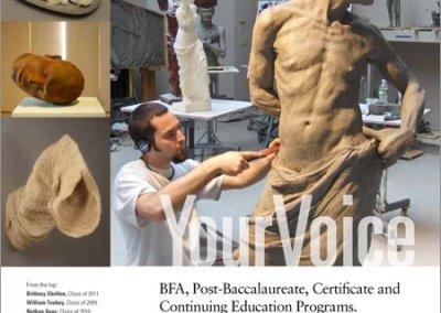 Sculpture Magazine ad