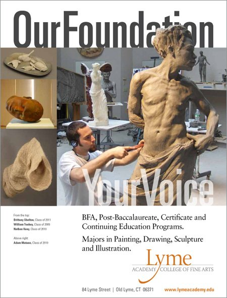 Sculpture Magazine ad