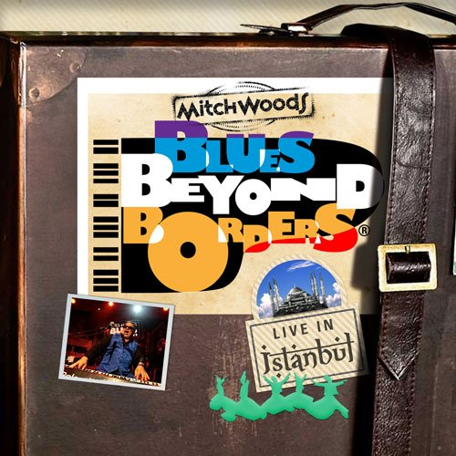 Sketching out a CD cover for Mitch Woods