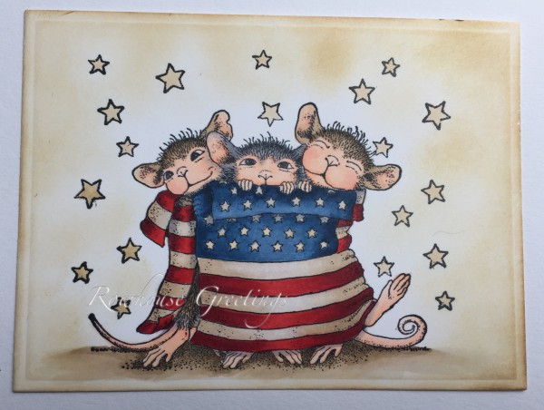 Rowhouse Greetings   Star Spangled Mice by House Mouse Designs