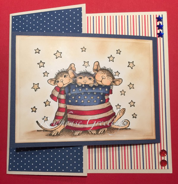 Rowhouse Greetings   Birthday   Star Spangled Mice by House Mouse Designs