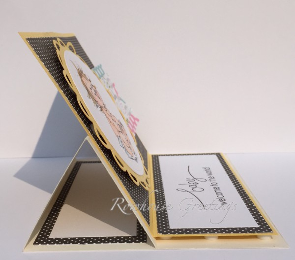 Rowhouse Greetings | New Baby | Happy by Mo's Digital Pencil (Easel card)