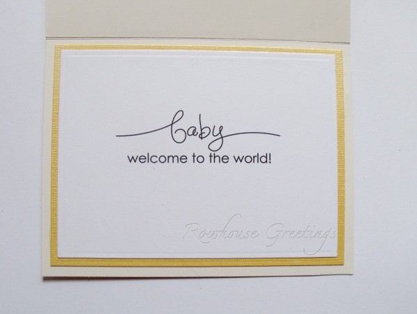 Rowhouse Greetings | New Baby | A Word for You by Stampin' Up!