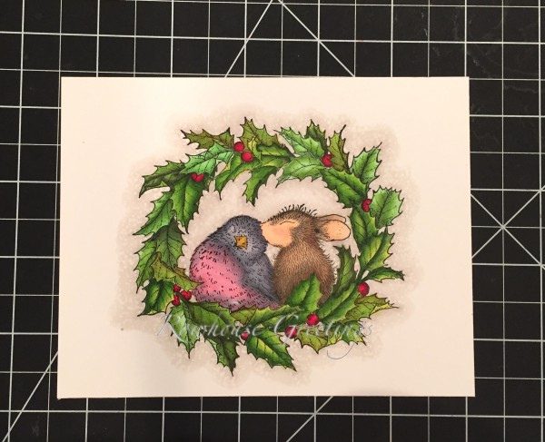 Rowhouse Greetings | Christmas | Wreath Kiss by House Mouse Designs