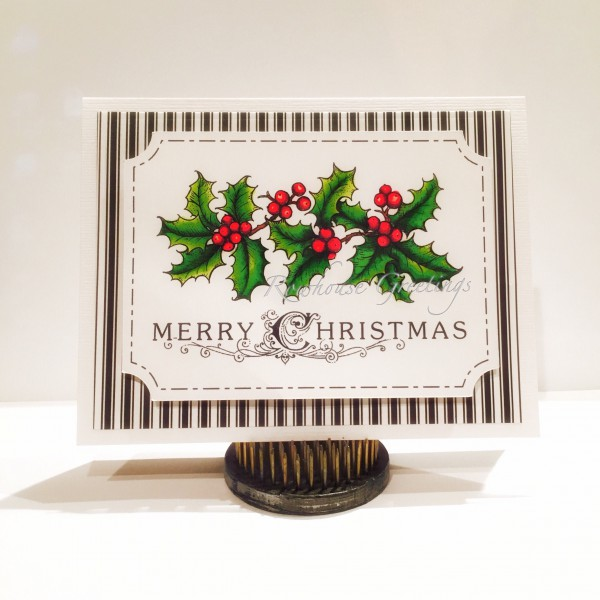 Rowhouse Greetings | Christmas | Hollyberries by Power Poppy