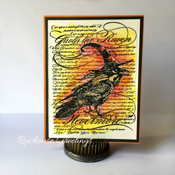 Rowhouse Greetings   Halloween   Raven by Stampendous
