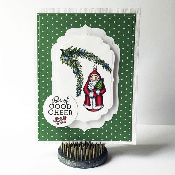 Rowhouse Greetings | Christmas | Glittering Santa by Power Poppy