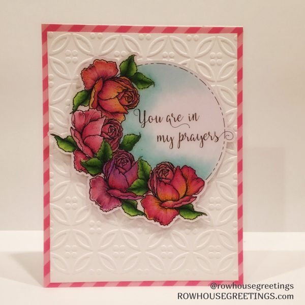 Rowhouse Greetings | Sympathy Card | Rose & Chamomile by Power Poppy