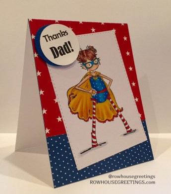 Rowhouse Greetings | Father's Day | Stamping Bella Hayley the Hero