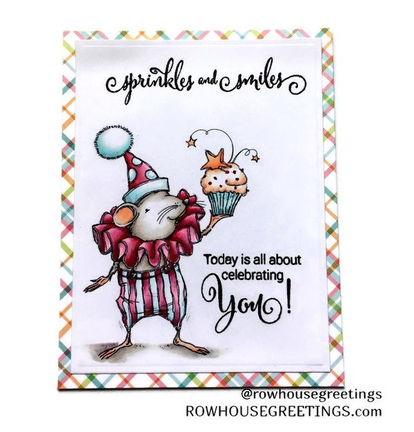 Rowhouse Greetings | Birthday | Cupcake Mouse by Mo's Digital Pencil