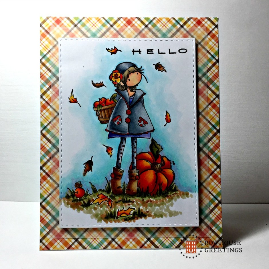 Rowhouse Greetings | Thanksgiving | Tiny Townie Fay Loves Fall by Stamping Bella