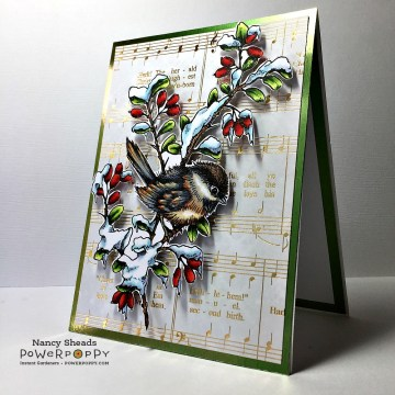 Rowhouse Greetings| Christmas | Chickadee in Barberry by Power Poppy