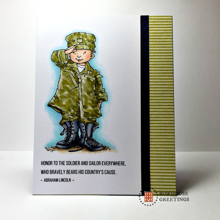 Rowhouse Greetings | Veterans' Day | Soldier Boy By Mo's Digital Pencil