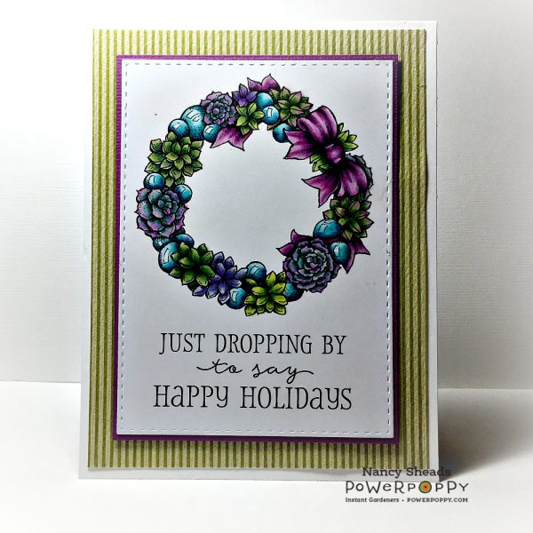 Rowhouse Greetings | Christmas | Succulent Wreath and Baubles by Power Poppy